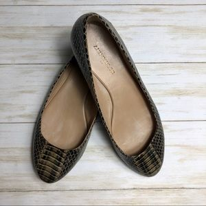 🌸JUST IN🌸Ann Taylor Snakeskin Flats